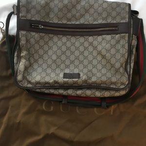 Brown Gucci Messenger Bag